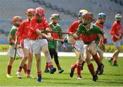 18 April 2019; Action from the game between Corofin GAA, Co. Clare, and Fr O'Neill's GAA, Co. Cork, during the Littlewoods Ireland Go Games Provincial Days in Croke Park. This year over 6,000 boys and girls aged between six and twelve represented their clubs in a series of mini blitzes and – just like their heroes – got to play in Croke Park, Dublin. Photo by Seb Daly/Sportsfile