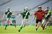18 April 2019; Action from the game between Knockaderry GAA, Co. Limerick, and Shanballymore GAA, Co. Cork, during the Littlewoods Ireland Go Games Provincial Days in Croke Park. This year over 6,000 boys and girls aged between six and twelve represented their clubs in a series of mini blitzes and – just like their heroes – got to play in Croke Park, Dublin. Photo by Seb Daly/Sportsfile
