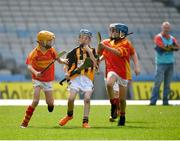 18 April 2019; Action from the game between Abbydorney GAA, Co. Kerry, and Smith O'Brien's GAA, Co. Clare, during the Littlewoods Ireland Go Games Provincial Days in Croke Park. This year over 6,000 boys and girls aged between six and twelve represented their clubs in a series of mini blitzes and – just like their heroes – got to play in Croke Park, Dublin. Photo by Seb Daly/Sportsfile