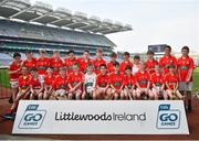 18 April 2019; Watergrasshill GAA, Co. Cork, during the Littlewoods Ireland Go Games Provincial Days in Croke Park. This year over 6,000 boys and girls aged between six and twelve represented their clubs in a series of mini blitzes and – just like their heroes – got to play in Croke Park, Dublin. Photo by Seb Daly/Sportsfile