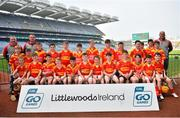 18 April 2019; Smith O'Brien's GAA, Co. Clare during the Littlewoods Ireland Go Games Provincial Days in Croke Park. This year over 6,000 boys and girls aged between six and twelve represented their clubs in a series of mini blitzes and – just like their heroes – got to play in Croke Park, Dublin. Photo by Seb Daly/Sportsfile