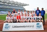 18 April 2019; St. Oliver's GAA, Co. Waterford, during the Littlewoods Ireland Go Games Provincial Days in Croke Park. This year over 6,000 boys and girls aged between six and twelve represented their clubs in a series of mini blitzes and – just like their heroes – got to play in Croke Park, Dublin. Photo by Seb Daly/Sportsfile