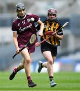 31 March 2019; Carrie Dolan of Galway in action against Anne Dalton of Kilkenny of Kilkenny during the Littlewoods Ireland Camogie League Division 1 Final match between Kilkenny and Galway at Croke Park in Dublin. Photo by Piaras Ó Mídheach/Sportsfile
