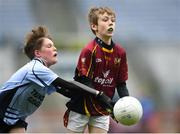 16 April 2019; Action from the game between Ballinrobe, Mayo and St. Brendans Ballygar, Galway at the Littlewoods Ireland Go Games Provincial Days in Croke Park. This year over 6,000 boys and girls aged between six and twelve represented their clubs in a series of mini blitzes and – just like their heroes – got to play in Croke Park, Dublin.  Photo by Eóin Noonan/Sportsfile