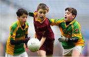 16 April 2019; Action from the game between Annaduff, Leitrim and Menlough, Galway at the Littlewoods Ireland Go Games Provincial Days in Croke Park. This year over 6,000 boys and girls aged between six and twelve represented their clubs in a series of mini blitzes and – just like their heroes – got to play in Croke Park, Dublin.  Photo by Eóin Noonan/Sportsfile