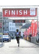 18 April 2019; Hiko Tanosa of Dundrum South Dublin AC, Co. Dublin on his way to winning the Kia Race Series Streets of Kilkenny 5k in Kilkenny City.  Photo by Harry Murphy/Sportsfile