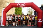 18 April 2019;  A general view of the starting line prior to the Kia Race Series Streets of Kilkenny 5k in Kilkenny City.  Photo by Harry Murphy/Sportsfile
