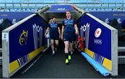 19 April 2019; Billy Holland, left, and Chris Farrell arrive for the Munster rugby captain's run at Ricoh Arena in Coventry, England. Photo by Brendan Moran/Sportsfile