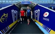 19 April 2019; Keith Earls, left, and Arno Botha arrive for the Munster rugby captain's run at Ricoh Arena in Coventry, England. Photo by Brendan Moran/Sportsfile
