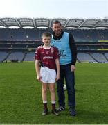 19 April 2019; Former Tipperary footballer and hurler Brendan Cummins with his son Paul Cummins after he played for Ardfinnan, Co Tipperary, at the Littlewoods Ireland Go Games Provincial Days in Croke Park. This year over 6,000 boys and girls aged between six and twelve represented their clubs in a series of mini blitzes and – just like their heroes – got to play in Croke Park, Dublin.  Photo by Piaras Ó Mídheach/Sportsfile