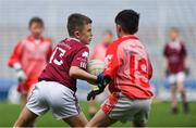 19 April 2019; Paul Cummins, son of former Tipperary footballer and hurler Brendan Cummins, playing for Ardfinnan, Co Tipperary, against Durlas Óg, Co Tipperary, at the Littlewoods Ireland Go Games Provincial Days in Croke Park. This year over 6,000 boys and girls aged between six and twelve represented their clubs in a series of mini blitzes and – just like their heroes – got to play in Croke Park, Dublin.  Photo by Piaras Ó Mídheach/Sportsfile