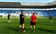 19 April 2019; Captain Peter O'Mahony, left, and Keith Earls look on during the Munster rugby captain's run at Ricoh Arena in Coventry, England. Photo by Brendan Moran/Sportsfile