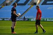 19 April 2019; Captain Peter O'Mahony, left, with Keith Earls during the Munster rugby captain's run at Ricoh Arena in Coventry, England. Photo by Brendan Moran/Sportsfile