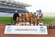 19 April 2019; The Canovee, Co Cork, team at the Littlewoods Ireland Go Games Provincial Days in Croke Park. This year over 6,000 boys and girls aged between six and twelve represented their clubs in a series of mini blitzes and – just like their heroes – got to play in Croke Park, Dublin.  Photo by Piaras Ó Mídheach/Sportsfile