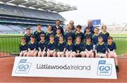 19 April 2019; The Cois Bríd, Co Waterford, team at the Littlewoods Ireland Go Games Provincial Days in Croke Park. This year over 6,000 boys and girls aged between six and twelve represented their clubs in a series of mini blitzes and – just like their heroes – got to play in Croke Park, Dublin.  Photo by Piaras Ó Mídheach/Sportsfile