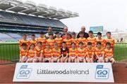 19 April 2019; The Newcestown, Co Cork, team at the Littlewoods Ireland Go Games Provincial Days in Croke Park. This year over 6,000 boys and girls aged between six and twelve represented their clubs in a series of mini blitzes and – just like their heroes – got to play in Croke Park, Dublin.  Photo by Piaras Ó Mídheach/Sportsfile