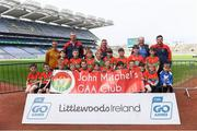 19 April 2019; The John Mitchel's, Co Waterford, team at the Littlewoods Ireland Go Games Provincial Days in Croke Park. This year over 6,000 boys and girls aged between six and twelve represented their clubs in a series of mini blitzes and – just like their heroes – got to play in Croke Park, Dublin.  Photo by Piaras Ó Mídheach/Sportsfile