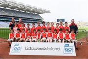 19 April 2019; The Shannon Gaels, Co Clare, team at the Littlewoods Ireland Go Games Provincial Days in Croke Park. This year over 6,000 boys and girls aged between six and twelve represented their clubs in a series of mini blitzes and – just like their heroes – got to play in Croke Park, Dublin.  Photo by Piaras Ó Mídheach/Sportsfile
