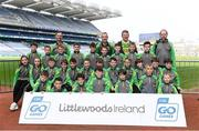 19 April 2019; The Finuge, Co Kerry, team at the Littlewoods Ireland Go Games Provincial Days in Croke Park. This year over 6,000 boys and girls aged between six and twelve represented their clubs in a series of mini blitzes and – just like their heroes – got to play in Croke Park, Dublin.  Photo by Piaras Ó Mídheach/Sportsfile