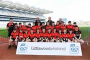 19 April 2019; The Clondegad, Co Clare, team at the Littlewoods Ireland Go Games Provincial Days in Croke Park. This year over 6,000 boys and girls aged between six and twelve represented their clubs in a series of mini blitzes and – just like their heroes – got to play in Croke Park, Dublin.  Photo by Piaras Ó Mídheach/Sportsfile