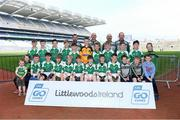 19 April 2019; The Naomh Bríd, Co Waterford, team at the Littlewoods Ireland Go Games Provincial Days in Croke Park. This year over 6,000 boys and girls aged between six and twelve represented their clubs in a series of mini blitzes and – just like their heroes – got to play in Croke Park, Dublin.  Photo by Piaras Ó Mídheach/Sportsfile