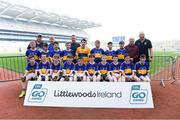 19 April 2019; The Kildagan, Co Tipperary, team at the Littlewoods Ireland Go Games Provincial Days in Croke Park. This year over 6,000 boys and girls aged between six and twelve represented their clubs in a series of mini blitzes and – just like their heroes – got to play in Croke Park, Dublin.  Photo by Piaras Ó Mídheach/Sportsfile