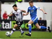 19 April 2019; Patrick Hoban of Dundalk in action against Sam Todd of Finn Harps during the SSE Airtricity League Premier Division match between Dundalk and Finn Harps at Oriel Park in Dundalk, Co. Louth. Photo by Ben McShane/Sportsfile