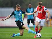 19 April 2019; Conor Clifford of St Patrick's Athletic is tackled by Jack Keaney of Sligo Rovers during the SSE Airtricity League Premier Division match between St Patrick's Athletic and Sligo Rovers at Richmond Park in Dublin. Photo by Ramsey Cardy/Sportsfile