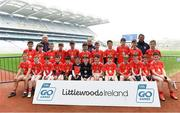 19 April 2019; The Mayfield, Co Cork, team at the Littlewoods Ireland Go Games Provincial Days in Croke Park. This year over 6,000 boys and girls aged between six and twelve represented their clubs in a series of mini blitzes and – just like their heroes – got to play in Croke Park, Dublin.  Photo by Piaras Ó Mídheach/Sportsfile