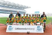 19 April 2019; The Castlegregory, Co Kerry, team at the Littlewoods Ireland Go Games Provincial Days in Croke Park. This year over 6,000 boys and girls aged between six and twelve represented their clubs in a series of mini blitzes and – just like their heroes – got to play in Croke Park, Dublin.  Photo by Piaras Ó Mídheach/Sportsfile