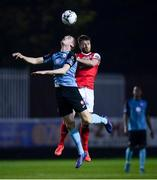 19 April 2019; Jack Keaney of Sligo Rovers in action against Conor Clifford of St Patrick's Athletic during the SSE Airtricity League Premier Division match between St Patrick's Athletic and Sligo Rovers at Richmond Park in Dublin. Photo by Ramsey Cardy/Sportsfile