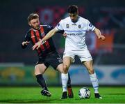 19 April 2019; Neil Farrugia of UCD in action against Conor Levingston of Bohemians during the SSE Airtricity League Premier Division match between Bohemians and UCD at Dalymount Park in Dublin. Photo by Seb Daly/Sportsfile