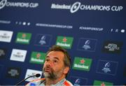 20 April 2019; Head coach Ugo Mola during a Toulouse Rugby press conference at the Aviva Stadium in Dublin. Photo by Ramsey Cardy/Sportsfile