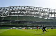 20 April 2019; Romain Ntamack during the Toulouse Rugby captain's run at the Aviva Stadium in Dublin. Photo by Ramsey Cardy/Sportsfile