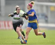 20 April 2019; Amanda McLoone of Roscommon in action against Ann Maire Coleman of Sligo during the Lidl NFL Division 3 semi-final match between Sligo and Roscommon at Glennon Brothers Pearse Park in Longford. Photo by Matt Browne/Sportsfile