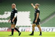 20 April 2019; Tadhg Furlong, left, and James Lowe during the Leinster Rugby captain's run at the Aviva Stadium in Dublin. Photo by Ramsey Cardy/Sportsfile