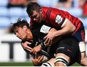 20 April 2019; Michael Rhodes of Saracens is tackled by Peter O'Mahony of Munster during the Heineken Champions Cup Semi-Final match between Saracens and Munster at the Ricoh Arena in Coventry, England. Photo by David Fitzgerald/Sportsfile