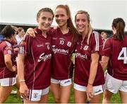 20 April 2019; Galway players from left Sinead Burke, Olivia Divilly and Megan Glynn after the Lidl NFL Division 1 semi-final match between Galway and Donegal at Glennon Brothers Pearse Park in Longford. Photo by Matt Browne/Sportsfile