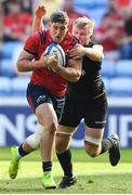 20 April 2019; Dan Goggin of Munster is tackled by Jackson Wray of Saracens during the Heineken Champions Cup Semi-Final match between Saracens and Munster at the Ricoh Arena in Coventry, England. Photo by David Fitzgerald/Sportsfile