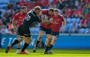 20 April 2019; Tadhg Beirne of Munster is tackled by Schalk Burger of Saracens during the Heineken Champions Cup Semi-Final match between Saracens and Munster at the Ricoh Arena in Coventry, England. Photo by Brendan Moran/Sportsfile