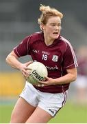 20 April 2019; Sarah Conneally of Galway during the Lidl NFL Division 1 semi-final match between Galway and Donegal at the Glennon Brothers Pearse Park in Longford. Photo by Matt Browne/Sportsfile
