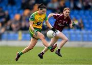 20 April 2019; Gereldine McLoughlin of Donegal in action against Galway during the Lidl NFL Division 1 semi-final match between Galway and Donegal at the Glennon Brothers Pearse Park in Longford. Photo by Matt Browne/Sportsfile