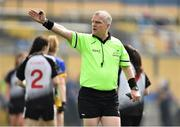 20 April 2019; Referee Des McEnery during the Lidl NFL Division 3 semi-final match between Sligo and Roscommon at Glennon Brothers Pearse Park in Longford. Photo by Matt Browne/Sportsfile