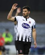19 April 2019; Patrick Hoban of Dundalk reacts during the SSE Airtricity League Premier Division match between Dundalk and Finn Harps at Oriel Park in Dundalk, Co. Louth. Photo by Ben McShane/Sportsfile
