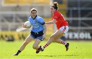 21 April 2019; Lyndsey Davey of Dublin in action against Shauna Kelly of Cork during the Lidl NFL Division 1 semi-final match between Cork and Dublin at the Nowlan Park in Kilkenny. Photo by Piaras Ó Mídheach/Sportsfile