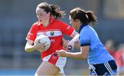 21 April 2019; Áine O'Sullivan of Cork in action against Niamh Collins of Dublin during the Lidl NFL Division 1 semi-final match between Cork and Dublin at the Nowlan Park in Kilkenny. Photo by Piaras Ó Mídheach/Sportsfile