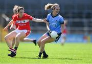 21 April 2019; Rachel Ruddy of Dublin in action against Áine O'Sullivan of Cork during the Lidl NFL Division 1 semi-final match between Cork and Dublin at the Nowlan Park in Kilkenny. Photo by Piaras Ó Mídheach/Sportsfile