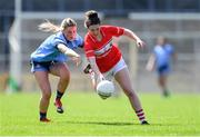21 April 2019; Shauna Kelly of Cork in action against Aoife Kane of Dublin during the Lidl NFL Division 1 semi-final match between Cork and Dublin at the Nowlan Park in Kilkenny. Photo by Piaras Ó Mídheach/Sportsfile