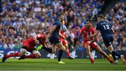 21 April 2019; Rob Kearney of Leinster switches a pass inside to team-mate Garry Ringrose during the Heineken Champions Cup Semi-Final match between Leinster and Toulouse at the Aviva Stadium in Dublin. Photo by Brendan Moran/Sportsfile