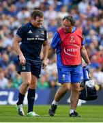 21 April 2019; Seán Cronin of Leinster leaves the pitch with an injury accompanied by Leinster team doctor Prof John Ryan during the Heineken Champions Cup Semi-Final match between Leinster and Toulouse at the Aviva Stadium in Dublin. Photo by Brendan Moran/Sportsfile
